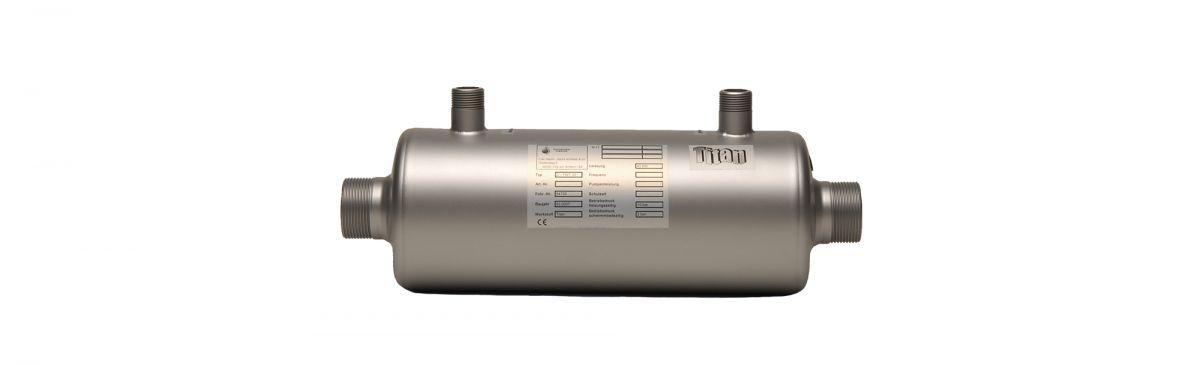 Wasserwärmetauscher aus Volltitan 42, 76, 105 und 132 kW | max daprà ...